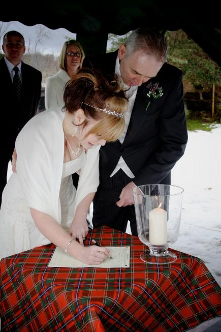 Legal signing with celebrant